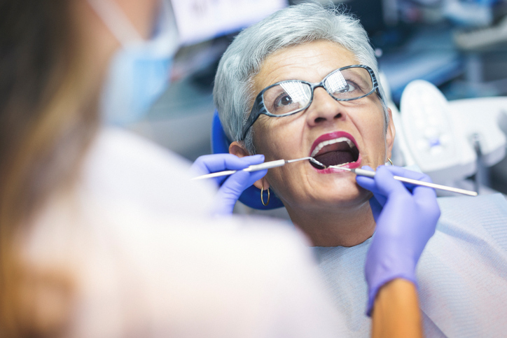senior dentist patient